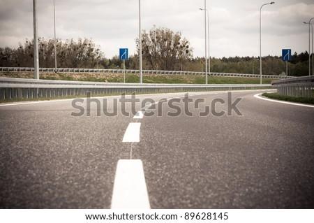 empty highway - stock photo