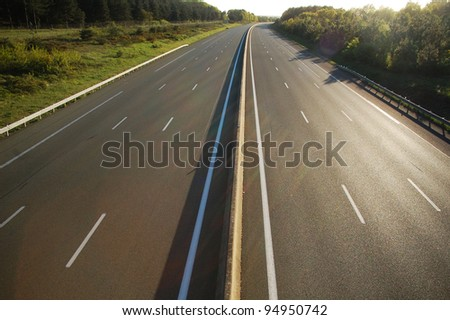 empty highway - stock photo