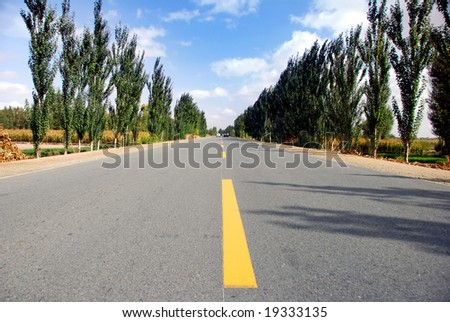 Empty highway,country road(6) - stock photo