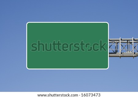 Empty highway sign - stock photo