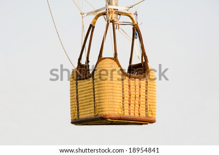 Empty Hot Air Balloon Basket - stock photo