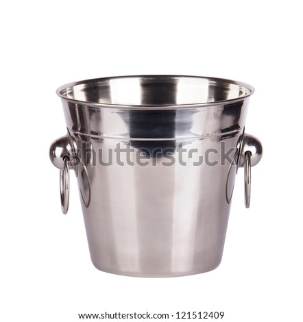 empty ice bucket isolated on a white background