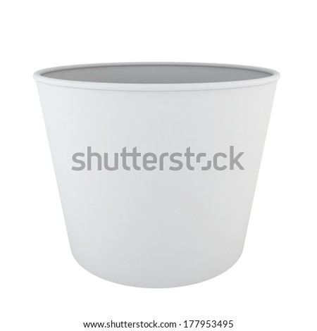 Empty ice cream cup. 3d illustration on white background  - stock photo