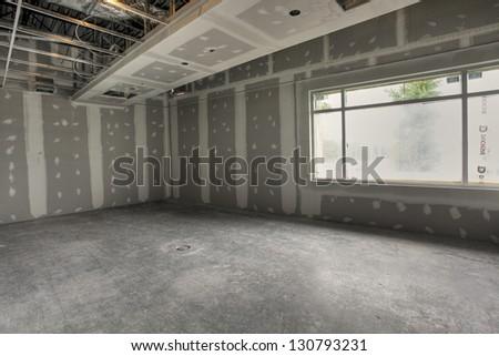 empty industrial interior - stock photo