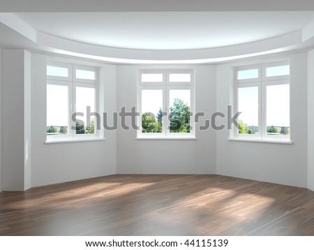 interior modern house big empty space stock photo 643023658