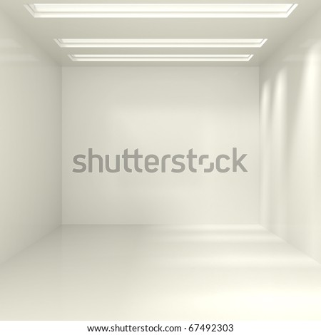 Empty Interior - 3d illustration - stock photo