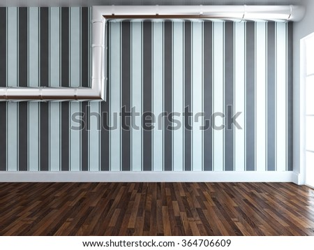 Empty interior. 3d rendering - stock photo