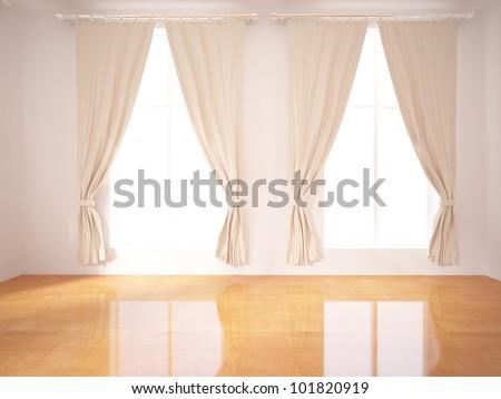 empty interior design - stock photo