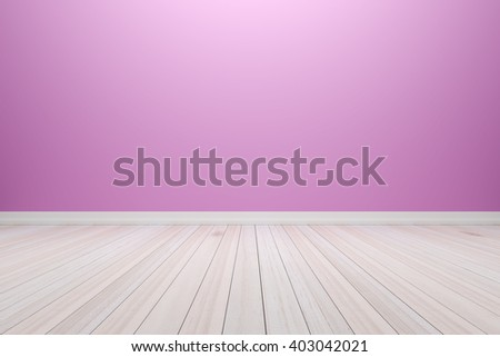 Empty interior light purple room with wooden floor, For present your products.  - 3D render image. - stock photo