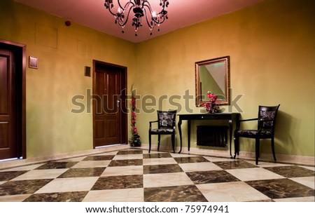 empty interior lounge horizontal - stock photo