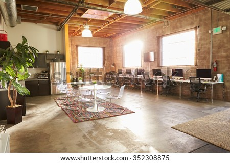 Empty Interior Of Modern Design Office - stock photo