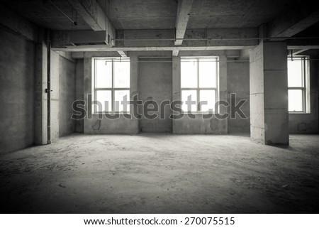 Empty interior space - stock photo