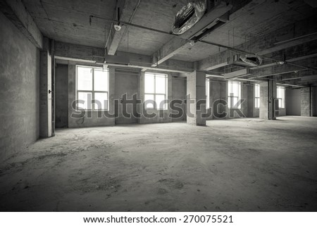 Empty interior space - stock photo