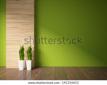 empty interior with a wooden wall