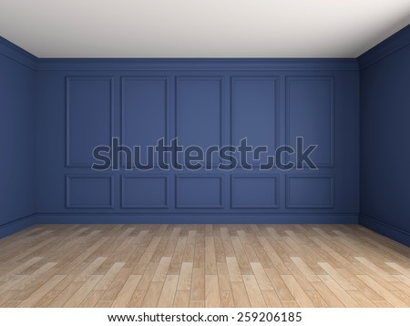 Empty interior with stucco decoration 3d rendering - stock photo