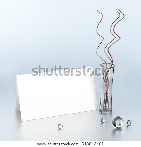 Empty invitation card 3 d rendering stock illustration 518843401 empty invitation card 3d rendering stopboris Image collections