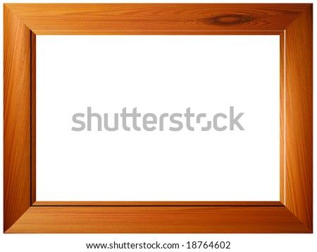 Empty isolated wood texture border frame with no background for ...