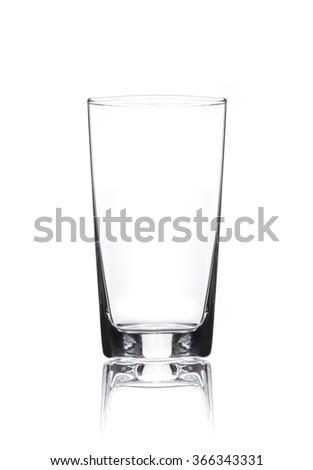 Empty Juice Glass Isolated - stock photo