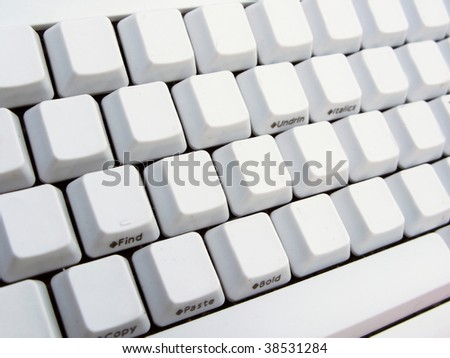 Empty keyboard