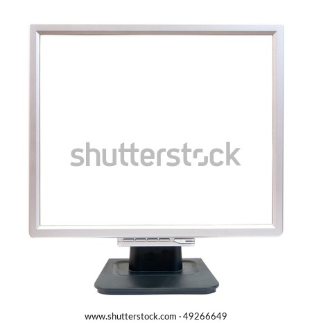 Empty LCD monitor. Isolated on white background with clipping path