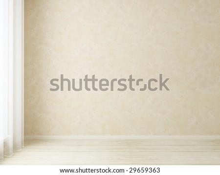 Empty light room - stock photo