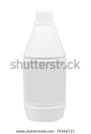 Empty liquid medicine bottle you could putting and touching brands or logo into it the image isolated on white - stock photo