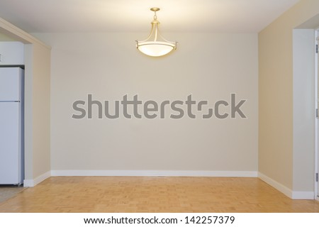 Empty Living Room in a new apartment - stock photo