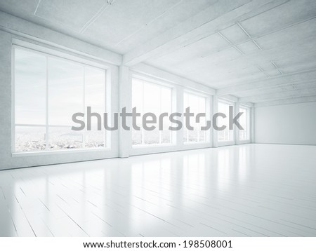 Empty loft - stock photo