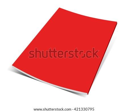Empty magazine on white background. Perfect blank 3D illustration - stock photo