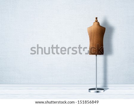 Empty mannequin torso template. - stock photo