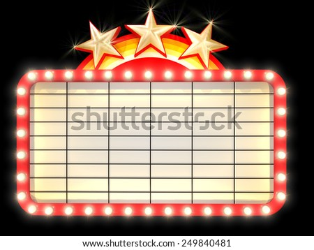 Empty Marquee banner with light background
