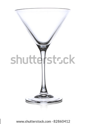 Empty martini glass - stock photo