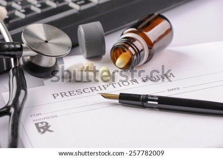 Empty medical prescription  - stock photo