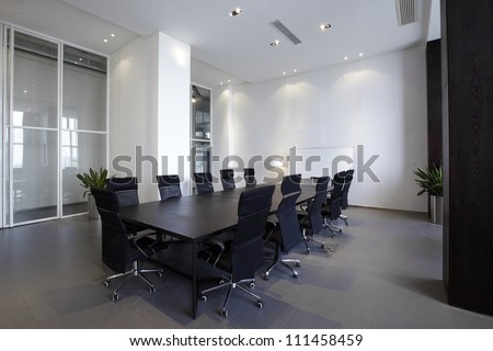 Empty meeting room - stock photo