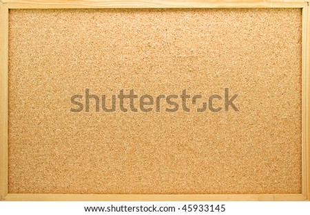 Empty memo board in closeup can be used for messages - stock photo