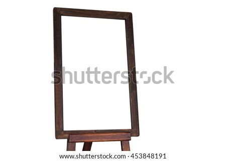 Empty menu board on white background, stock photo - stock photo