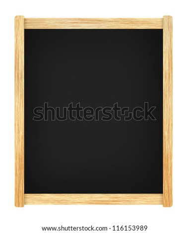 Empty menu board with wooden frame - stock photo