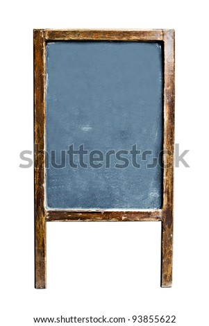 Empty menu chalkboard with copy space for text, Isolated on white background, Clipping paths included - stock photo