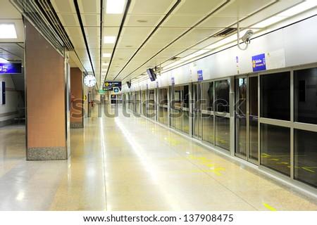 Empty metro station in Bangkok, Thailand - stock photo