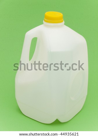 Empty milk container for recycling