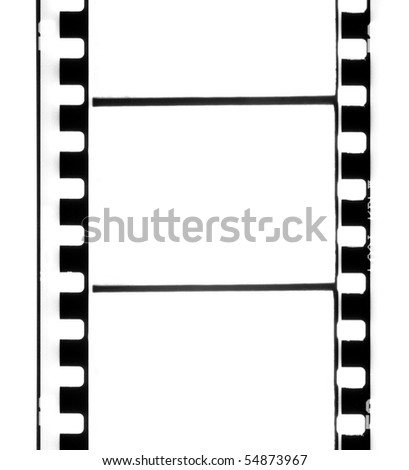 Empty 35 mm old film strip. - stock photo