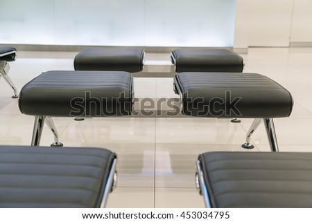 empty modern chair at waiting area