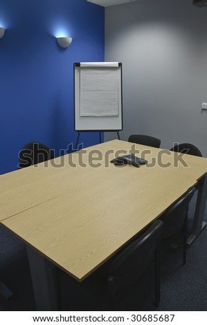 empty modern classroom or meeting room for business - stock photo