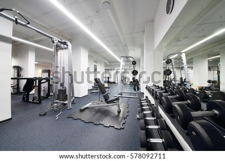 Fitnessraum modern  Equipment Machines Modern Gym Room Fitness Stock Photo 432403945 ...