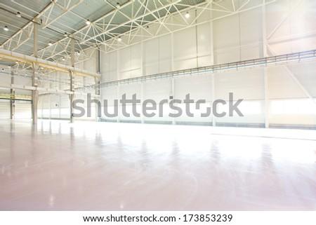 Empty Modern high-tech factory workshop  - stock photo