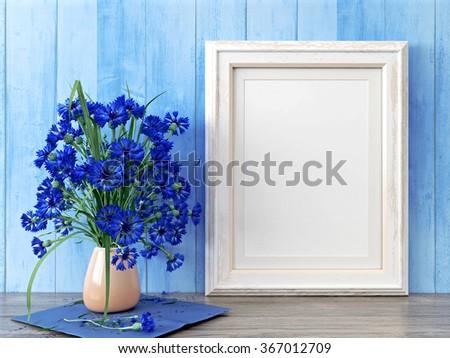 Empty modern style frame, 3D render - stock photo