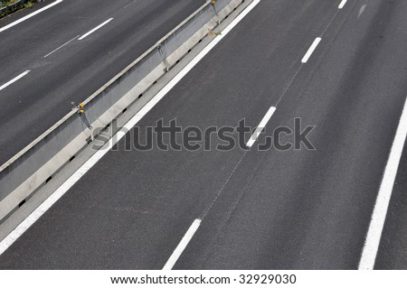 Empty motorway asphalt pavement