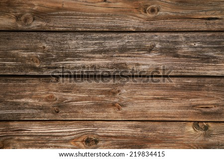 Empty natural brown wooden background. - stock photo