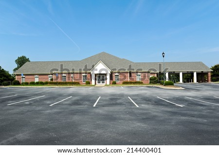 Empty New Bank Building for Sale or Lease - stock photo