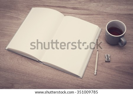 Empty notebook mockup